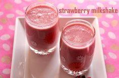 Strawberry milkshake recipe – How to make strawberry milkshake recipe