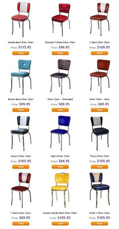 Retro chairs 1950's from http://coastersfurniture.org/shabby-chic-furniture/retro-furniture/