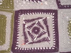 """On the Huh 12"""" block   The members of the Ravelry 12"""" Block a Month 2009 CAL have encouraged me to dust of my notes for this pattern, so tha..."""
