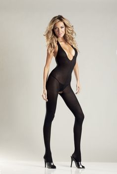820f15e70a black halter style body stocking by be wicked nip on sale for  18.66 Full  Body Lingerie