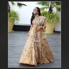 Mango Color Lehengas: The New Bridal Color For 2020 Brides! Summer Wedding Outfits, Bridal Outfits, Bridal Gowns, Bridal Dupatta, Designer Bridal Lehenga, Lehenga Pattern, Orange Lehenga, Indian Bridal Wear, Indian Wear