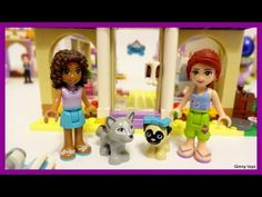 Lego Friends 41124 Heartlake Puppy Daycare - Unboxing, Speed Build and P...