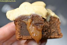 Chocolate salted caramel cupcakes.