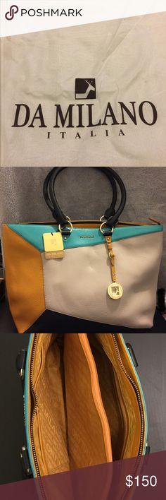 DA MILANO ITALIA ladies handbag Never use after bought. Pure leather. Very good condition. Da Milano Bags Shoulder Bags