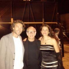 Con Alessio Boni e Ludovico Einaudi