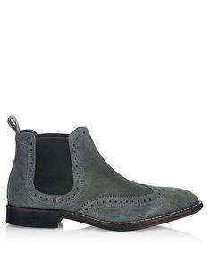 Weston grey suede brogue Chelsea boots by KG by Kurt Geiger on secretsales.com