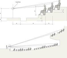 Auditorium Design, Auditorium Plan, Auditorium Architecture, Theatre Architecture, Auditorium Seating, Architecture Concept Diagram, Architecture Graphics, Architecture Design, Cinema Seats