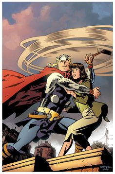 "A cover to Marvel's ""Thor: The Mighty Avenger"" comic."