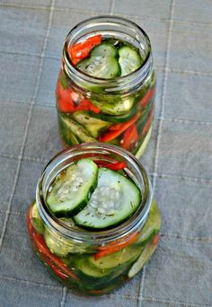 sweet and spicy refrigerator pickles. So easy. This is to make from scratch. Check fire and ice recipes.