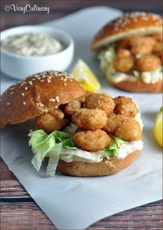 Baked breaded shrimp and a homemade tartar sauce make up this easy and delicious version of the classic Louisiana Po' Boy sandwich.