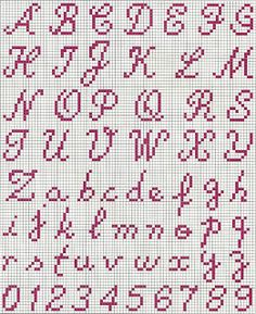 cross stitch alphabet                                                                                                                                                                                 More