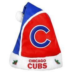 Chicago Cubs 2015 MLB Baseball Team Logo Holiday Plush Basic Santa Hat
