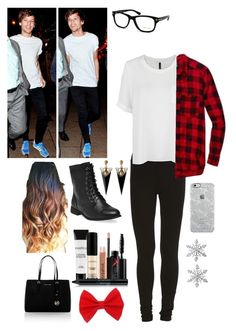 """""""Night out of town w/ Louis"""" by autumnstyles54 ❤ liked on Polyvore featuring VILA, MANGO, Wet Seal, Smashbox, MICHAEL Michael Kors, Tom Ford, Uncommon, Van Cleef & Arpels, women's clothing and women"""