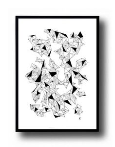 Those triangles - A5 poster