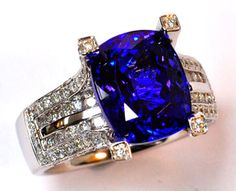 Gorgeous Tanzanite in our most popular setting