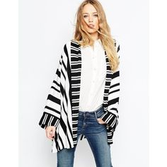 ASOS Stripe Swing Cardigan