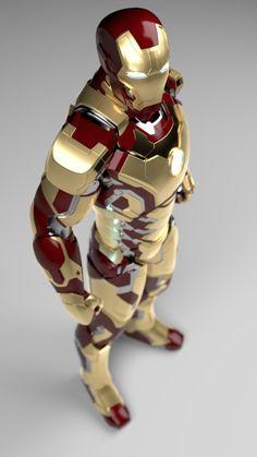 model - Iron Man Mark 42 - This model is for sale at turbosquid Marvel Dc, Marvel Heroes, Iron Man Suit, Iron Man Armor, War Machine Iron Man, Iron Man Logo, Dc Comics, Fantasy Heroes, Iron Man Tony Stark