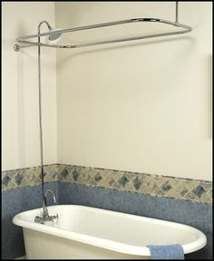 Diy Install A Clawfoot Shower Rod Curtain DIY Pinterest Clawfoot