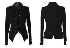 Wholesale Double-breasted Slit Epaulets Asymmetrical Hem Cotton Solid Color Coat For Women