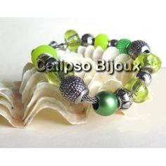 Bracciale con perle verdi SIRME
