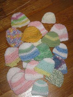 Teresa's 10 Minute Crochet Preemie Hat Pattern