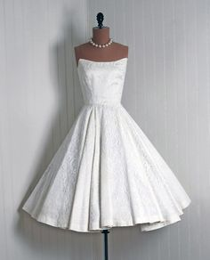 50s wedding dress? Yes please!  Great for vow renewal, IMHO.