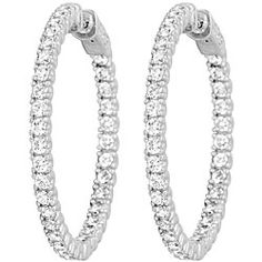 @Overstock.com - Platinumplated Sterling Silver Cubic Zirconia Inside-out Hoops - These sparkling cubic zirconia earrings will delight her and make her day when you present them as the perfect gift. Thirty-four brilliant, round gemstones combine in a fun and modern hoop style with a highly polished sterling-silver finish.  http://www.overstock.com/Jewelry-Watches/Platinumplated-Sterling-Silver-Cubic-Zirconia-Inside-out-Hoops/4762762/product.html?CID=214117 $89.99
