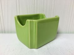 Fiesta® Retired Chartreuse Sugar Packet Caddy made by Homer Laughlin China Company. Rare, only 300 produced | eBay