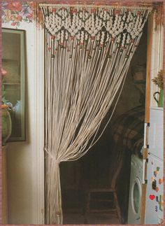 Vintage Macrame Pattern 1970s to make A Decorative door ickythecat