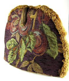 Tea Cozy Purple Tapestry Padded US Fruit Grapes Brown Sugar Designs NWT