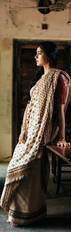 Vani Polavaram's Laxmi Collection; UPPADA, BENARASI, KALAMKARI, JAMDANI, KOTA, KANJEEVARAM, KHADI sarees. original pin by @webjournal. source link:http://maddyland.com/lakshmilookbook/