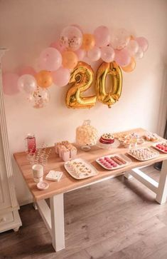 27 Ideas Birthday Decorations Gold Pink For 2019 Birthday Snacks, Birthday Party For Teens, 18th Birthday Party, Birthday Ideas, Birthday Quotes, Birthday Cake, Simple Birthday Decorations, Birthday Balloons, Birthdays