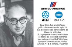 #‎Logotipos‬ famosos y sus creadores Saul Bass, United Airlines, Insight, Branding, Logos, Famous Logos, Movie Titles, Brand Identity Design, Quotes Motivation