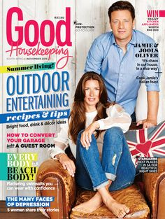 The November issue of GH is on sale! The new issue of Good Housekeeping, with the fabulous Jaimie and Jools Oliver on the cover, is on sale now! Jools Oliver, Jamie's Italian, Converted Garage, Swimsuits For All, Beautiful Cover, Good Housekeeping, Summer Essentials, Looking For Women, Food Hacks