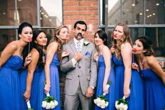 A fun, #goofy shot of the #wedding party from Full Spectrum Photography. #weddingwhimsy