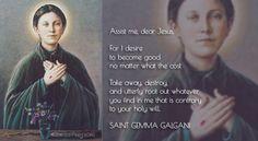 Saint Gemma Galgani, Pray for Us Catholic Quotes, Catholic Prayers, Catholic Saints, Patron Saints, Roman Catholic, St Gemma Galgani, Land Of The Living, Holy Mary, Pray For Us
