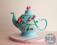 How to Make a Tea Pot Cake |Cakegirls Step x Step