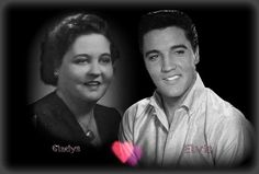 Gladys Love Presley & her son Elvis Elvis Presley Songs, Elvis Presley Graceland, Rare Elvis Photos, Facts About People, Rare Images, Sharon Stone, Handsome Man, Concert Posters, American Singers