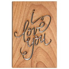 I love you Valentine's Day Card Anniversary Card by Cardtorial, $10.00
