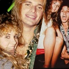 Stevie with David Lee Roth and Eddie Van Halen