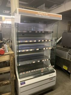 """$2300 • Buy Turbo Air Tom-40w 40"""" Open Air Grab And Go Used Refrigerator Cooler Display Case Beverage Refrigerator, Display Case, Stuff To Buy, Ebay, Home, Glass Display Case, Display Window, Ad Home"""