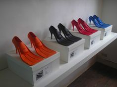 High Tied Heels - available for exhibitions only.  Can't wait to see the masks...