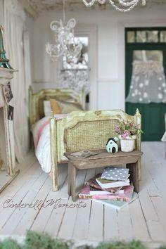 Dollhouse Miniature Primitive Bench Tutorial
