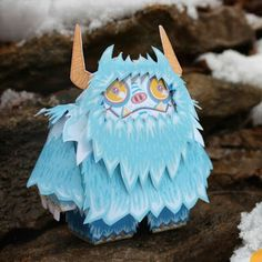 Tektonten Papercraft - Free Papercraft, Paper Models and Paper Toys: Neddy the Yeti Paper Toy
