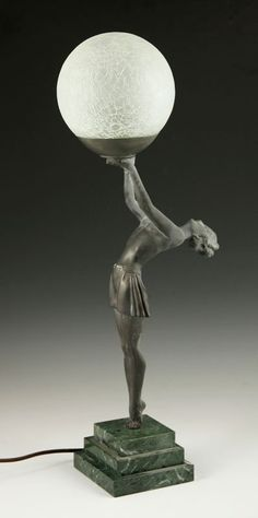Art Deco Figural Lamp