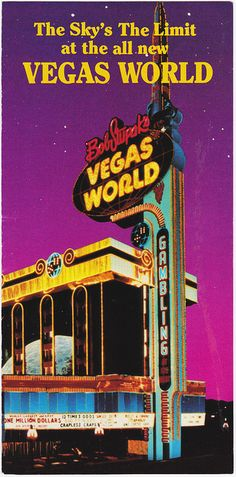 Vintage Las Vegas - ad for Bob Stupak's Vegas World (now the Stratosphere).