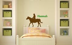 Horse decal personalized sticker mustang pony by 1Horsingaround, $25.00