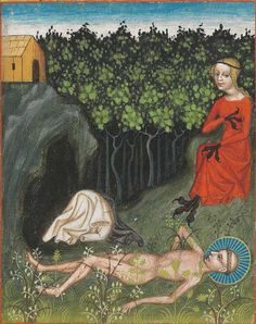 Mettener Regel [the Rule of St Benedict as practised at the Abbey of Metten]. Metten, Munich, Bayerische Staatsbibliothek, BSB Clm 8201 d, image Medieval Life, Medieval Art, Medieval Manuscript, Illuminated Manuscript, Rule Of St Benedict, History Of Illustration, Visual Literacy, Book Of Hours, Bizarre