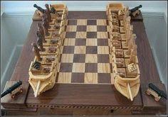 Sea battle chess board