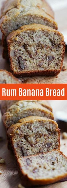 Rum Banana Bread – Turn traditional recipe into something even better with rum. This recipe yields the best and super moist banana bread ever | rasamalaysia.com